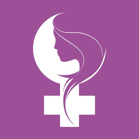 Illustration pour happy womens day design - image libre de droit