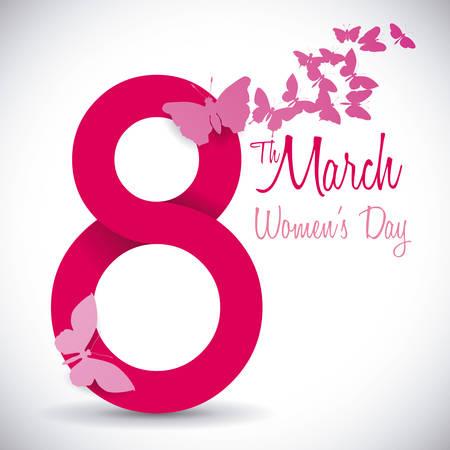 Ilustración de womens day design, vector illustration  graphic - Imagen libre de derechos