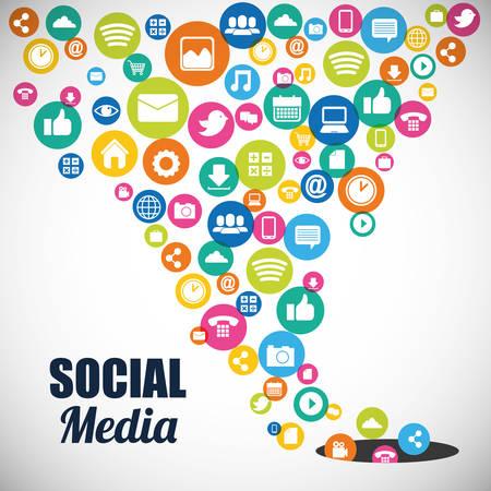 Illustration for social media design, vector illustration graphic - Royalty Free Image