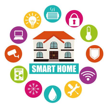 Ilustración de smart home design, vector illustration eps10 graphic - Imagen libre de derechos