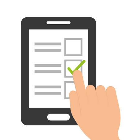 Illustration pour Survey design over white background - image libre de droit