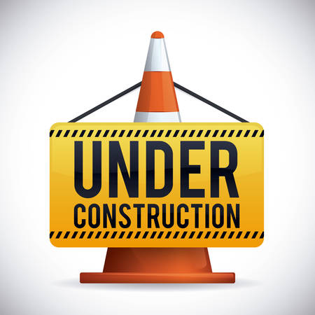 Illustration pour Under construction design, vector illustration. - image libre de droit