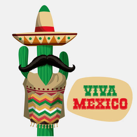 Illustration for Mexico / mexican culture card design, vector illustration. - Royalty Free Image
