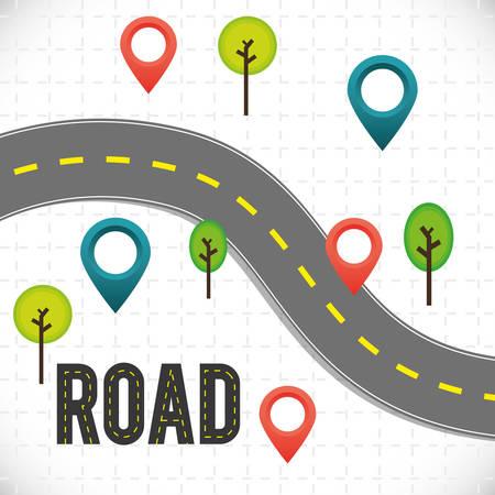 Illustration pour Road design over white background, vector illustration. - image libre de droit