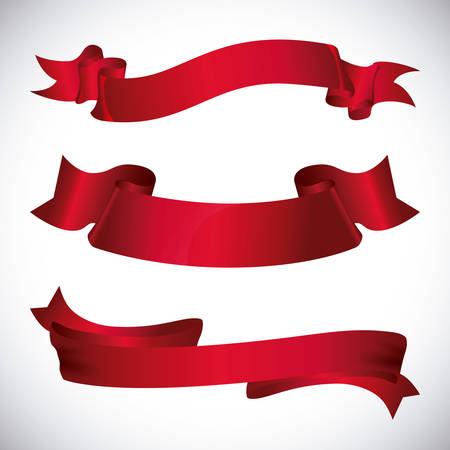 Illustration pour Decorative ribbon design, vector illustration eps 10. - image libre de droit