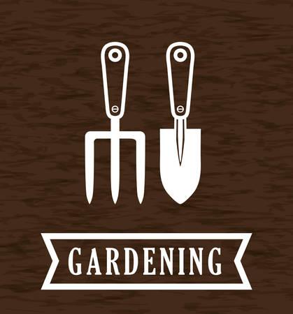 Illustration pour Gardening  concept with icon design, vector illustration 10 eps graphic. - image libre de droit