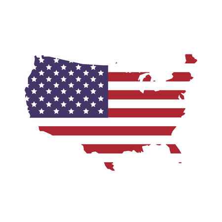 Illustration pour USA concept represented by map and flag icon. isolated and flat illustration - image libre de droit