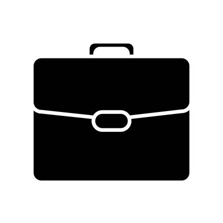 Illustration for briefcase icon over white background vector illustration - Royalty Free Image