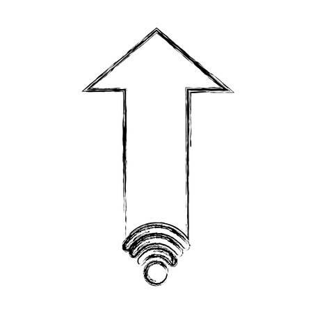 Illustration pour isolated web arrow icon vector illustration graphic design - image libre de droit