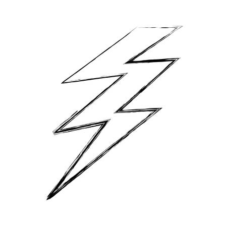 Illustration for Isolated electric thunder icon vector illustration graphic design - Royalty Free Image