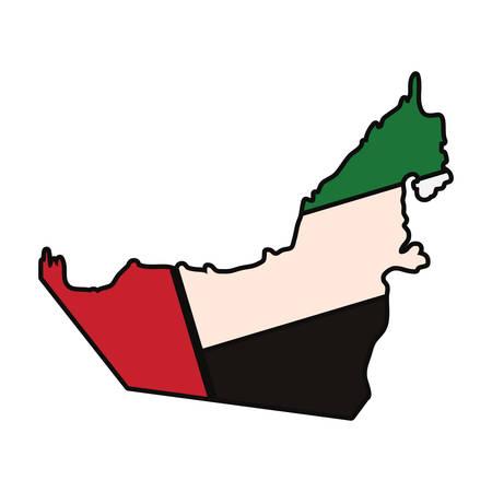 Illustration pour United Arab Emirates country silhouette - image libre de droit
