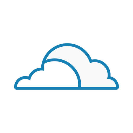 Illustration pour Cloud weather symbol neon lines - image libre de droit