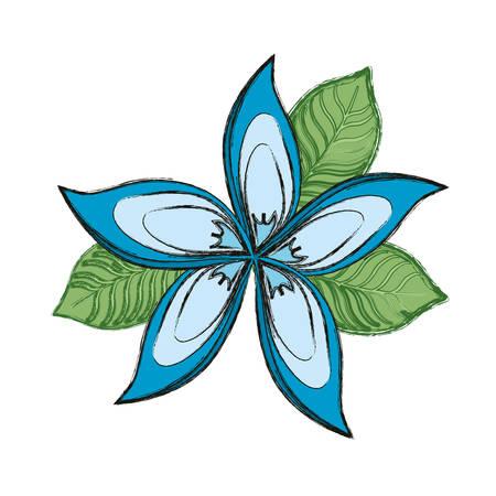 Illustration pour Beautiful flower symbol icon vector illustration graphic design - image libre de droit
