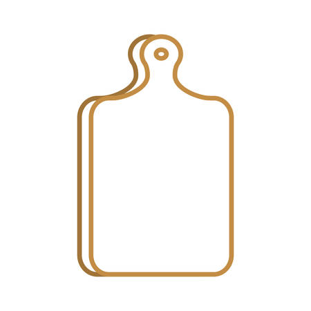 Ilustración de A cutting board design isolated on plain background. - Imagen libre de derechos