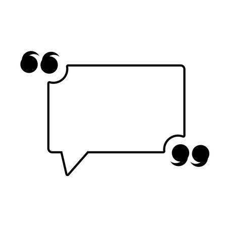 Illustration pour Quotation Mark Speech Bubble icon over white background, vector illustration - image libre de droit