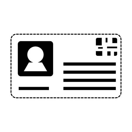 Ilustración de id card icon over white background, vector illustration - Imagen libre de derechos