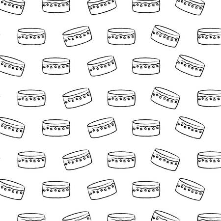 Illustration pour Background of Birthday cake pattern, vector illustration - image libre de droit