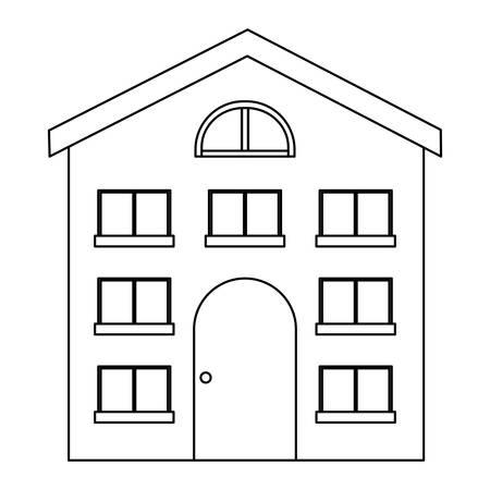 Illustration pour modern house over white background, vector illustration - image libre de droit