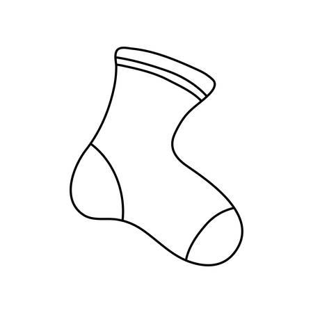 Ilustración de baby sock icon over white background, vector illustration - Imagen libre de derechos
