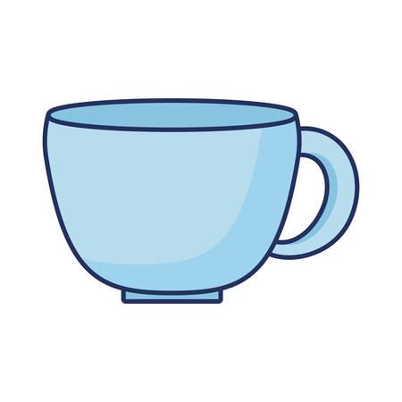 Illustration pour blue coffee cup ceramic icon  vector illustration - image libre de droit