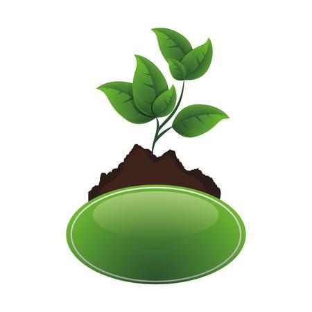 Ilustración de ecology tree plant cultivated vector illustration design - Imagen libre de derechos