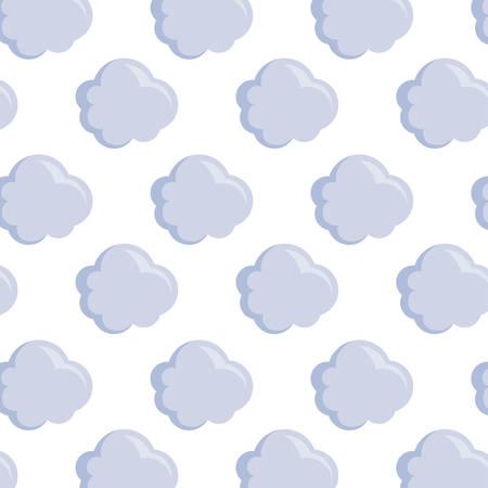 Illustration pour pattern of clouds nature icons vector illustration design - image libre de droit