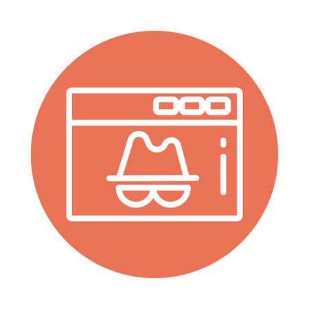 Illustrazione per window with incognito, block and flat style icon vector illustration design - Immagini Royalty Free
