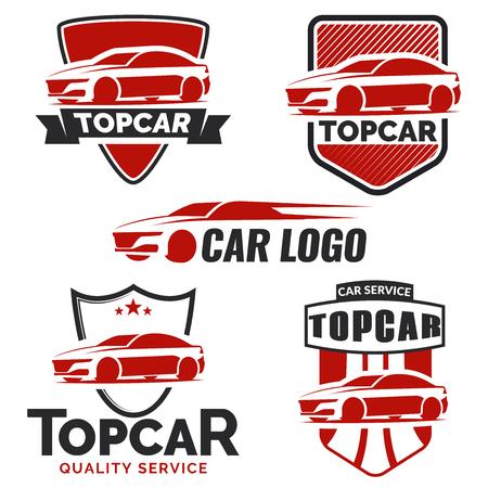 Illustration pour Modern car logo on white background. - image libre de droit