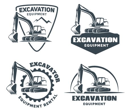Photo pour Excavator logo isolated on white background. - image libre de droit