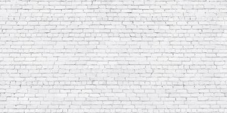 Photo pour whitewashed brick wall, light brickwork background for design. White masonry - image libre de droit