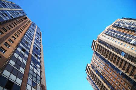 Photo pour Modern apartment buildings in St. Petersburg, Russia. - image libre de droit