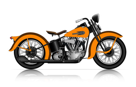 Illustration pour highly detailed illustration of classic motorcycle - image libre de droit
