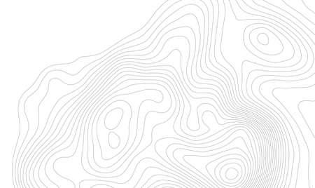 Ilustración de Topographic map background concept with space for your copy. - Imagen libre de derechos