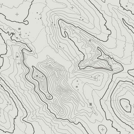 Ilustración de Topographic map background concept with space for your copy. Topography lines art contour , mountain hiking trail , Shape design. Computer generated . - Imagen libre de derechos