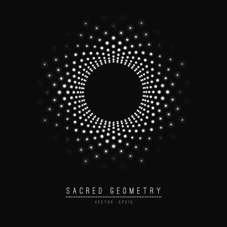 Ilustración de Flower of Life. Sacred Geometry. Symbol of Harmony and Balance. - Imagen libre de derechos
