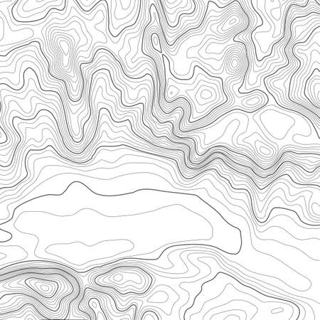 Illustration pour Topographic map background with space for copy . Line topography map contour background , geographic grid abstract vector illustration . Mountain hiking trail over terrain . - image libre de droit