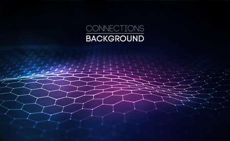 Illustration pour Futuristic honeycomb concept - image libre de droit