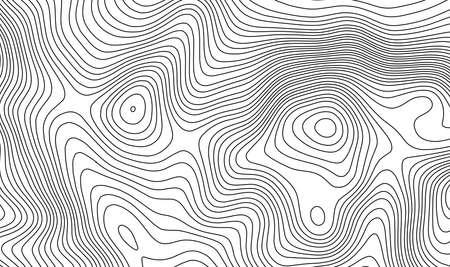 Ilustración de Topographic map contour template. - Imagen libre de derechos