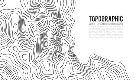 Illustration pour Topographic map contour background. Contour map vector. Geographic World Topography map grid abstract vector illustration. - image libre de droit