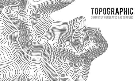 Illustration pour Topographic map contour background. Topo map with elevation. Contour map vector. Geographic World Topography map grid abstract vector illustration . - image libre de droit