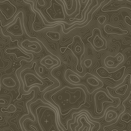 Illustration pour Seamless pattern. Topographic map background with space for copy Seamless texture. Line topography map contour background , geographic grid . Mountain hiking trail . - image libre de droit