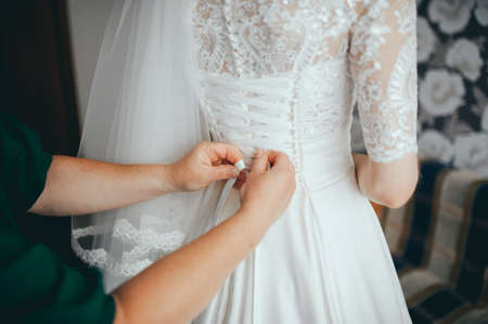 Photo for wedding preparations of the bride. morning at the hotel - Royalty Free Image