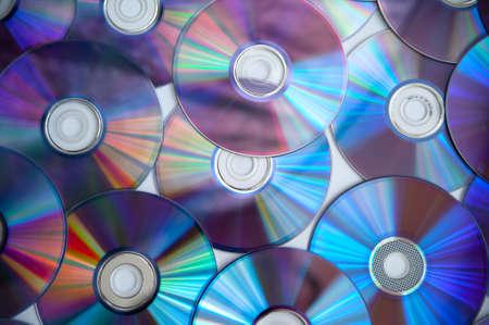 Foto de Bunch of cd discs on a white background - Imagen libre de derechos