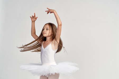 Foto de little ballerina is dancing. - Imagen libre de derechos