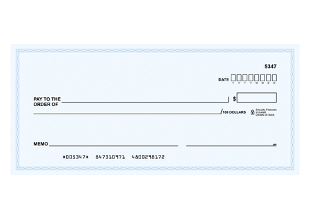 Illustration pour Template in vector - The blank form of a Bank check - image libre de droit