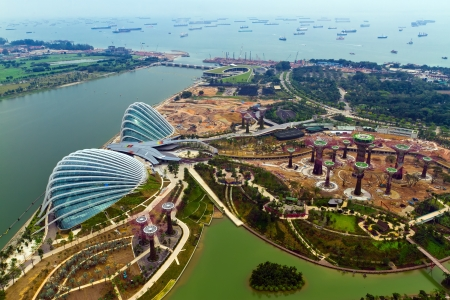 Photo pour River Hongbao view from the roof top of Marina Bay Sands resort, Singapore   - image libre de droit