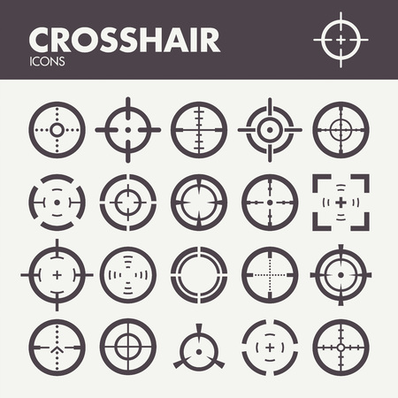 Crosshair. Icons set in vector