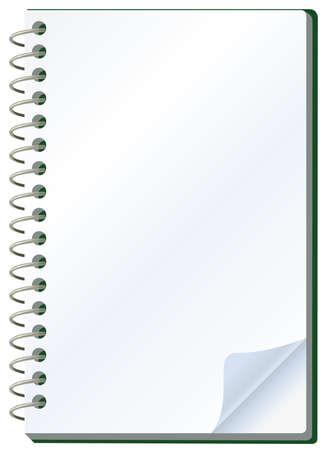illustration of notepad