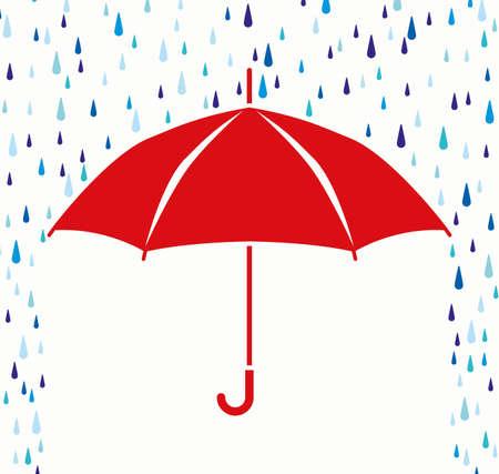 Ilustración de vector symbol of umbrella protection from rain drops  - Imagen libre de derechos
