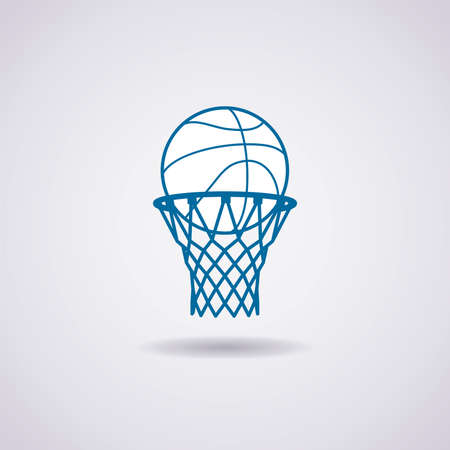 Illustration pour vector basketball ball and net icon - image libre de droit